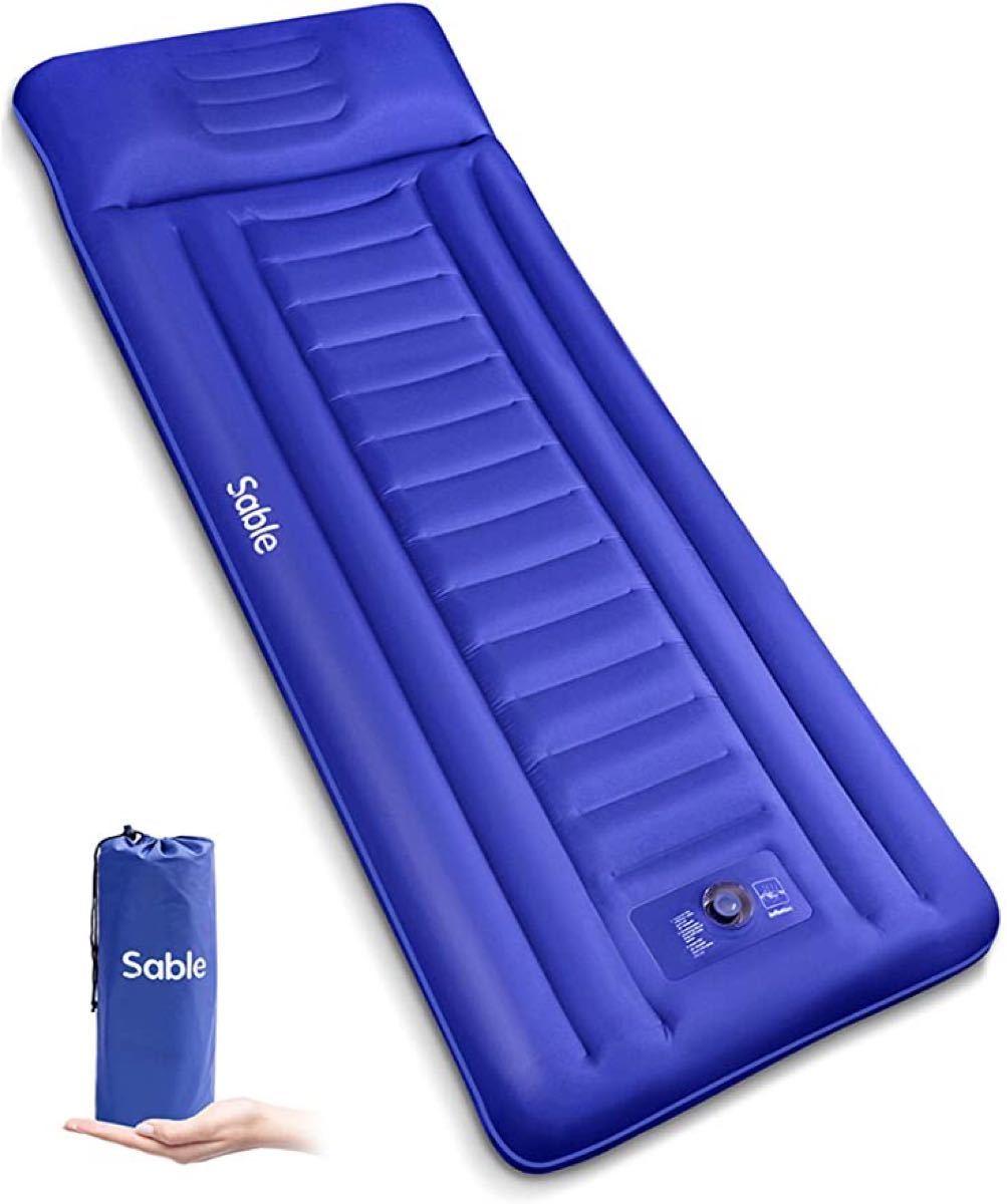 エアーマット キャンプマット 新品 未使用 枕付き アウトドア エアーベッド キャンプ 寝具 コンパクト 小型