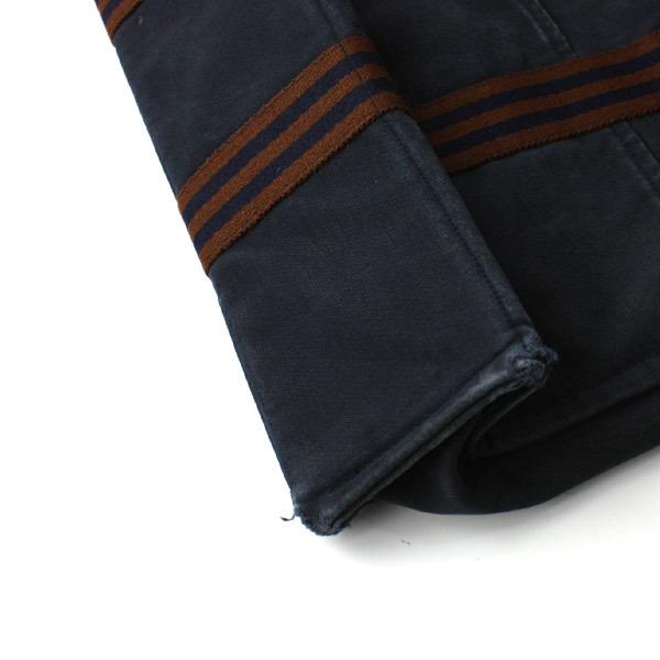 HERMES エルメス フールトゥMM キャンバス トートバッグ ハンドバッグ 手提げかばん 訳あり ネイビー×ブラウン 21-0223bu01 _画像3