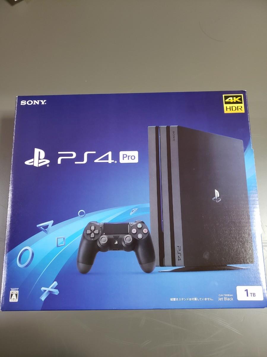PS4 Pro ジェットブラック CUH-7200BB01 4K HDR 1TB