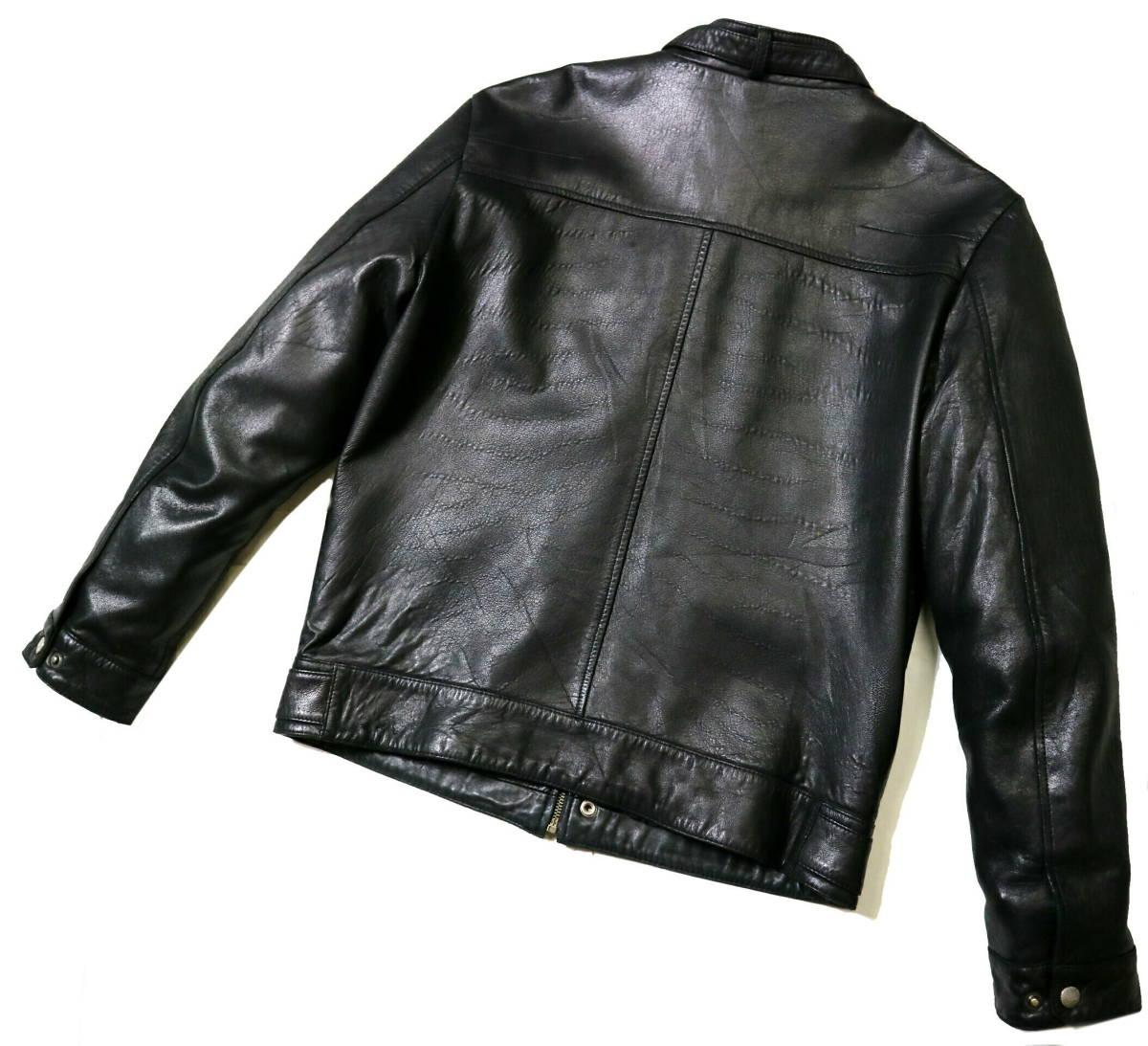 かなり良好/春秋レザー!◆韓国製 Chic Leather 羊革 レザージャケット◆Lサイズ相当(身長175-177センチ位)_画像2