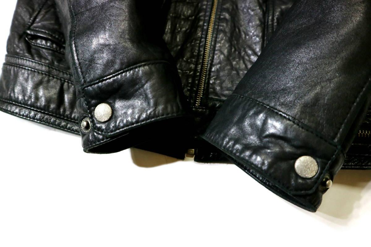 かなり良好/春秋レザー!◆韓国製 Chic Leather 羊革 レザージャケット◆Lサイズ相当(身長175-177センチ位)_画像7