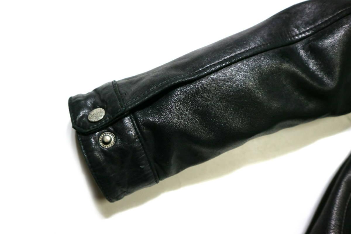 かなり良好/春秋レザー!◆韓国製 Chic Leather 羊革 レザージャケット◆Lサイズ相当(身長175-177センチ位)_画像8