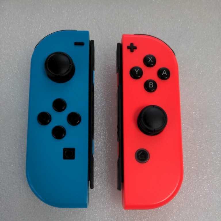 ★左右セット★動作確認済み★Nintendo Switch ジョイコン ネオンレッドR右 ネオンブルーL左  Joy-Con