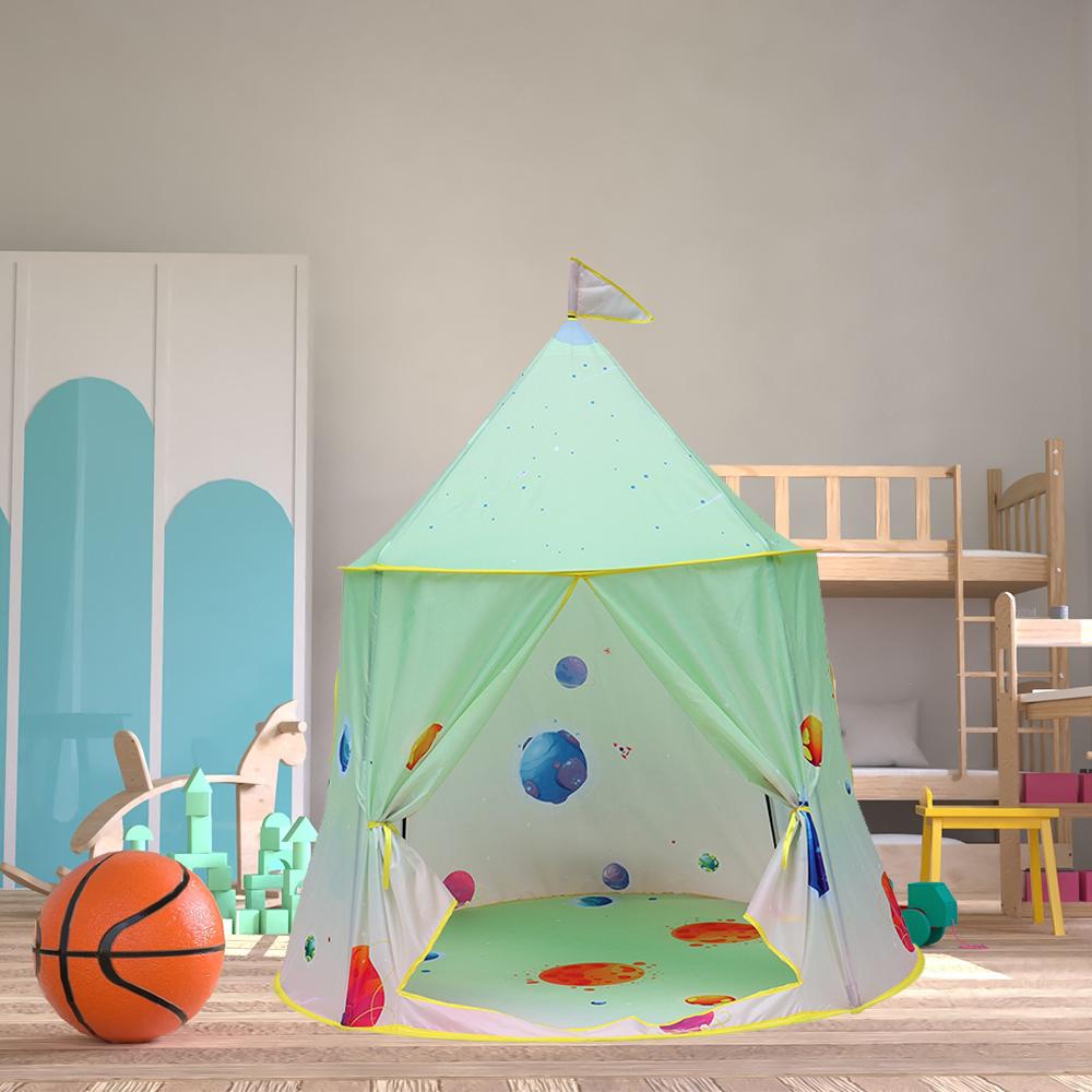 折り畳み 子供 遊び プリンセス城 屋外 ルーム 装飾 おもちゃ 女の子 maigic House 3 テント キャンプ アウトドア_画像1