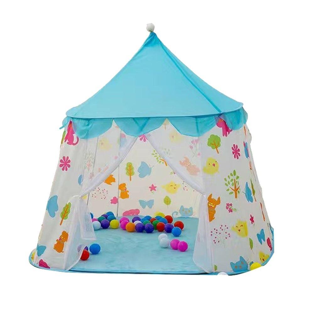 子供 ティピ キッズ 屋内 ベッド 家 ポータブル リトル ハウス ティーピー GR0023A青 テント キャンプ アウトドア_画像1