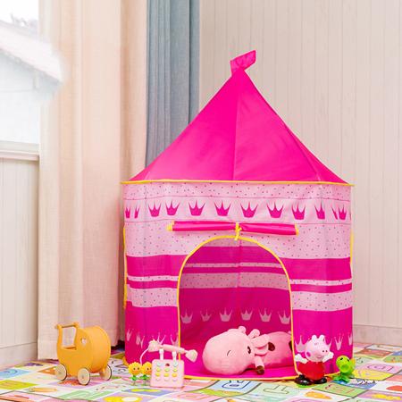 ポータブル 子供 プリンセス 城 小さい ハウス 屋内 屋外 赤ちゃん ティーピー QC0058R テント キャンプ アウトドア_画像1