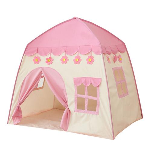 折り畳み 子供 遊び プリンセス城 屋外 ルーム 装飾 おもちゃ 女の子 ピンク flower テント キャンプ アウトドア_画像1