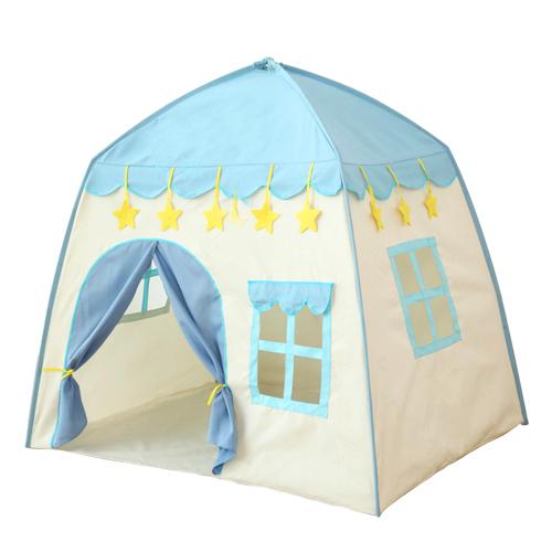 折り畳み 子供 遊び プリンセス城 屋外 ルーム 装飾 おもちゃ 女の子 青 stars テント キャンプ アウトドア_画像1