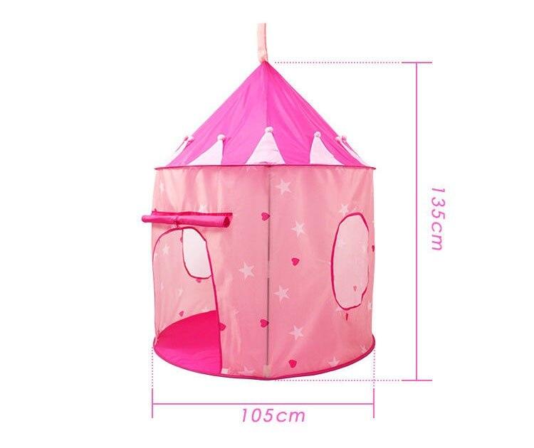 ポータブル 子供 ティピ キッズ ハウス ウィグワム 女の子 屋外 ティーピー ゲーム テント Tipi 青 テント キャンプ アウトドア_画像7