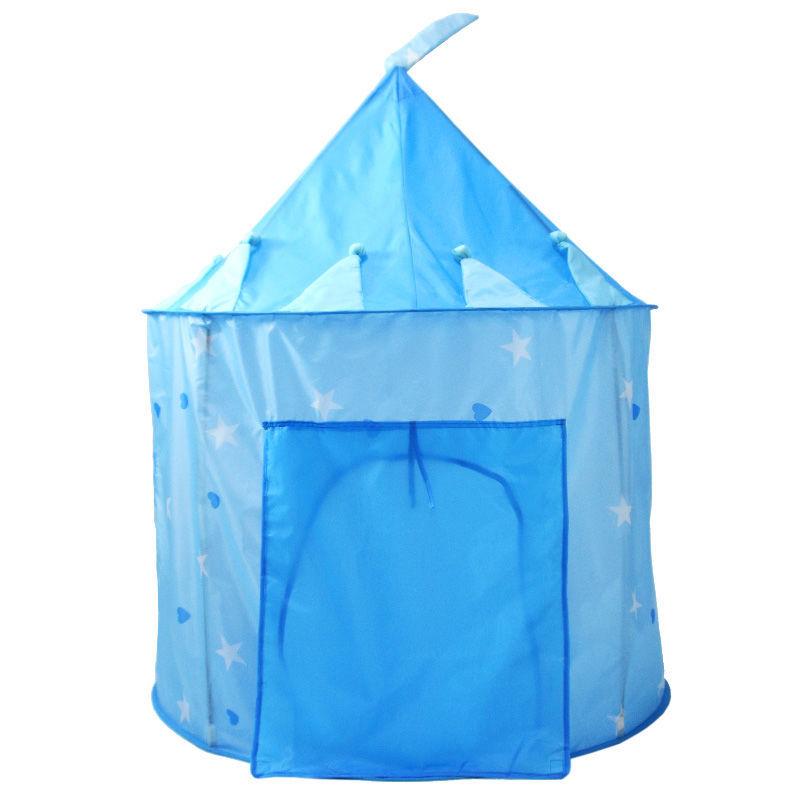 ポータブル 子供 ティピ キッズ ハウス ウィグワム 女の子 屋外 ティーピー ゲーム テント Tipi 青 テント キャンプ アウトドア_画像1
