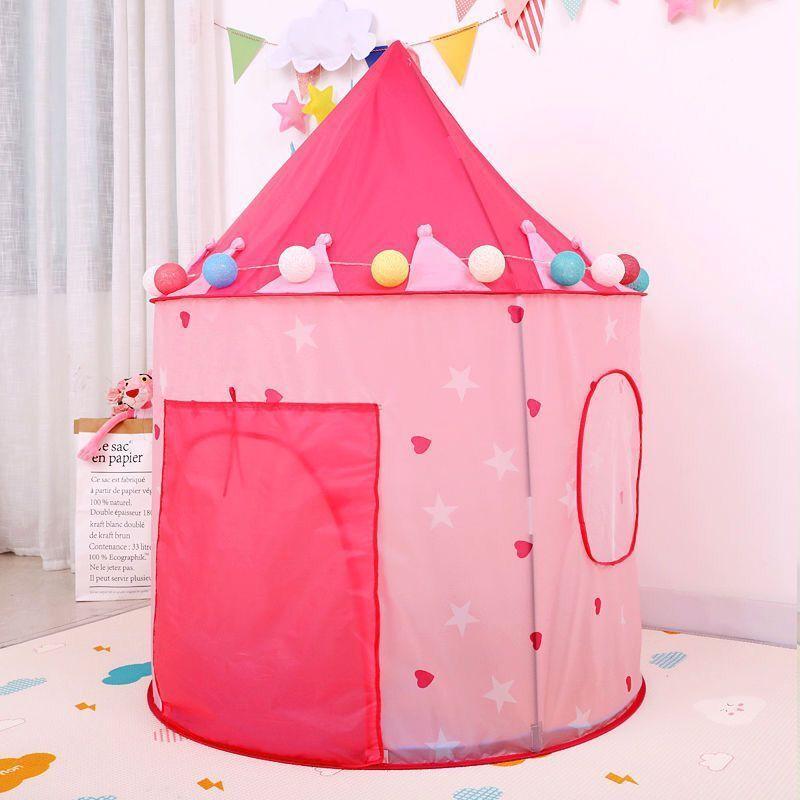 ポータブル 子供 ティピ キッズ ハウス ウィグワム 女の子 屋外 ティーピー ゲーム テント Tipi 青 テント キャンプ アウトドア_画像3