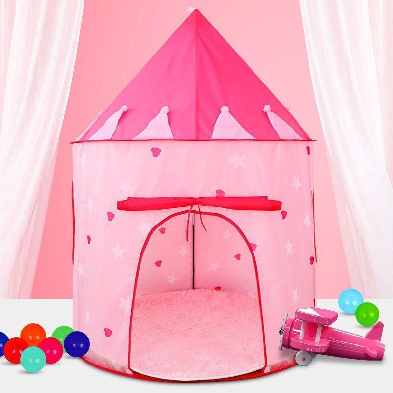 ポータブル 子供 ティピ キッズ ハウス ウィグワム 女の子 屋外 ティーピー ゲーム テント Tipi Rugピンク テント キャンプ アウトドア_画像2