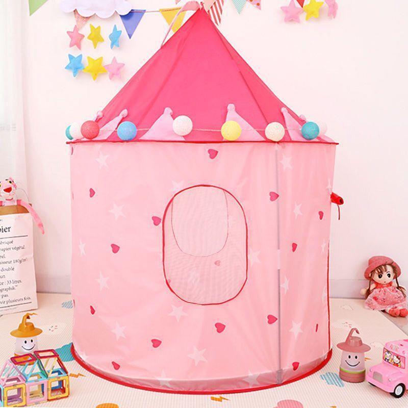 ポータブル 子供 ティピ キッズ ハウス ウィグワム 女の子 屋外 ティーピー ゲーム テント Tipi Rugピンク テント キャンプ アウトドア_画像4