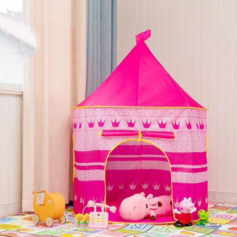 ポータブル 子供 プリンセス 城 小さい ハウス 屋内 屋外 赤ちゃん ティーピー QC0031CAImK テント キャンプ アウトドア_画像3