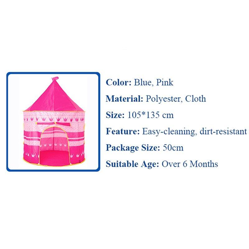 ポータブル 子供 プリンセス 城 小さい ハウス 屋内 屋外 赤ちゃん ティーピー QC0031CAImK テント キャンプ アウトドア_画像7