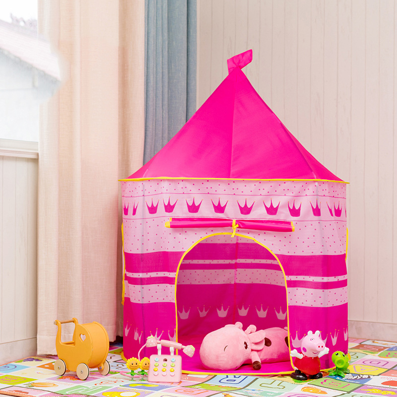 ポータブル 子供 プリンセス 城 小さい ハウス 屋内 屋外 赤ちゃん ティーピー QC0058R テント キャンプ アウトドア_画像3