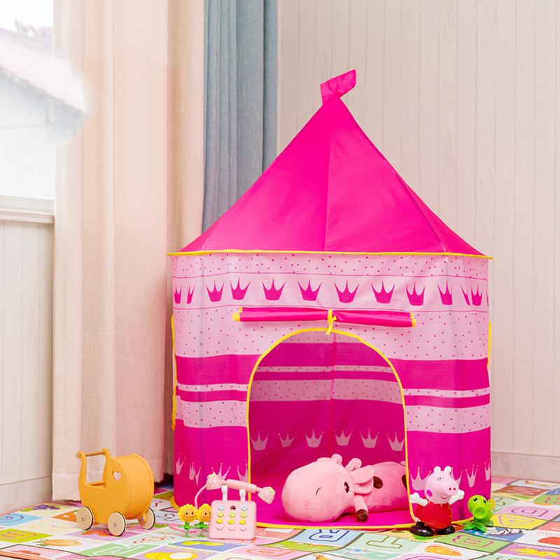 ポータブル 子供 プリンセス 城 小さい ハウス 屋内 屋外 赤ちゃん ティーピー QC0058B テント キャンプ アウトドア_画像2