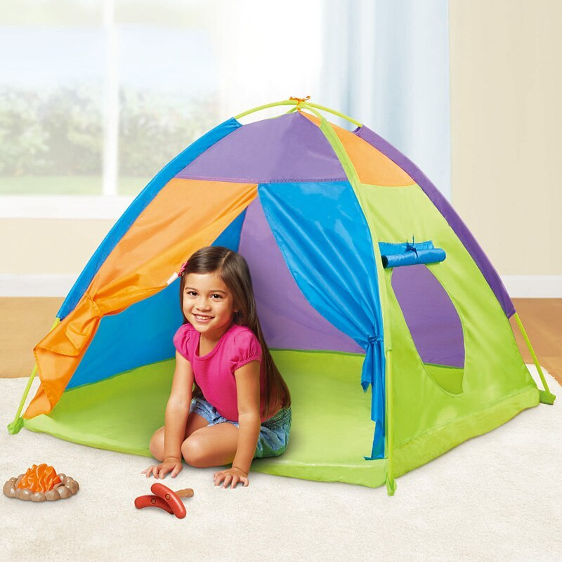 ポータブル 子供 ウィグワム 大 ティピ 赤ちゃん 屋外 防水 プレイ リトル ハウスティーピー キッズ GR0028緑 テント キャンプ アウトドア_画像2