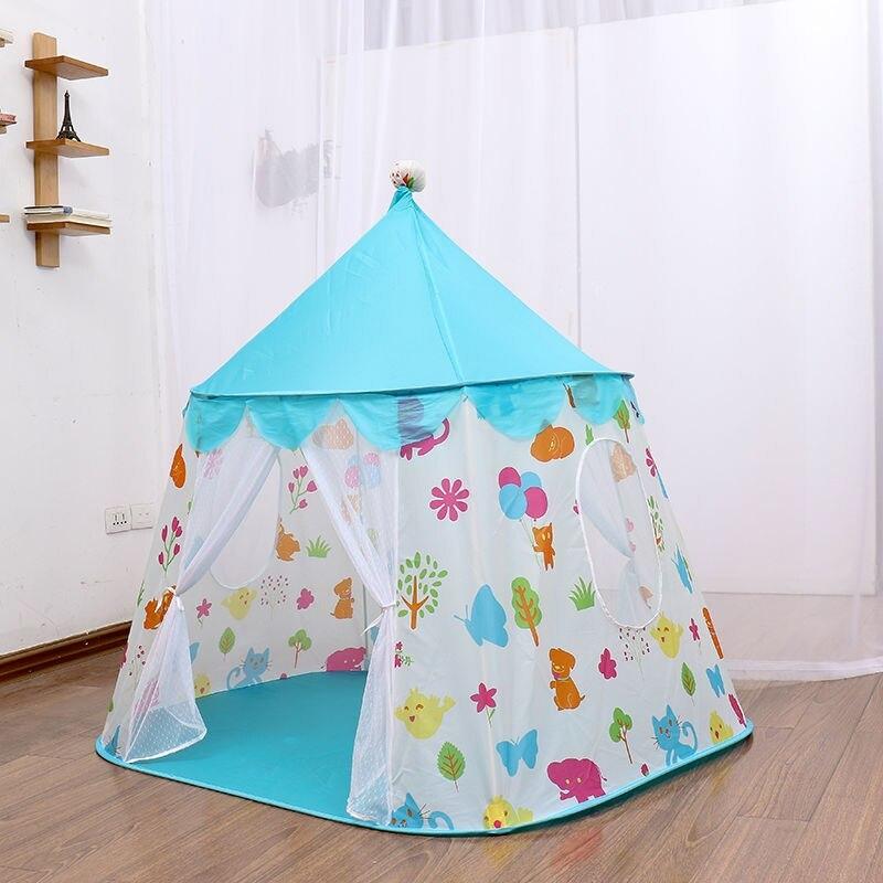 子供 ティピ キッズ 屋内 ベッド 家 ポータブル リトル ハウス ティーピー GR0023A青 テント キャンプ アウトドア_画像2