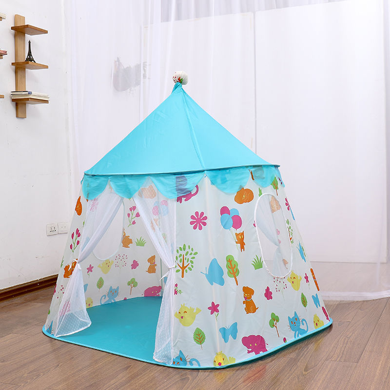 子供 ティピ キッズ 屋内 ベッド 家 ポータブル リトル ハウス ティーピー GR0026青 テント キャンプ アウトドア_画像3