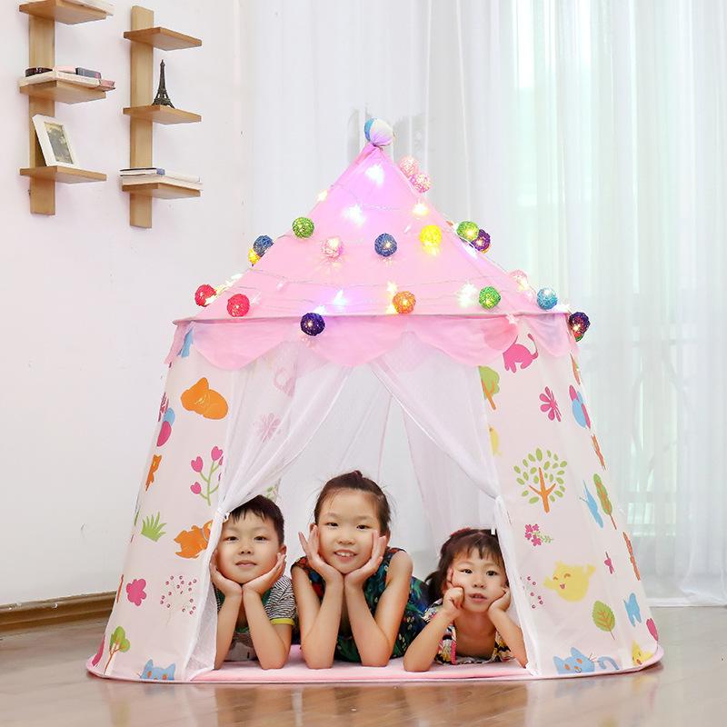 子供 ティピ キッズ 屋内 ベッド 家 ポータブル リトル ハウス ティーピー GR0026青 テント キャンプ アウトドア_画像4