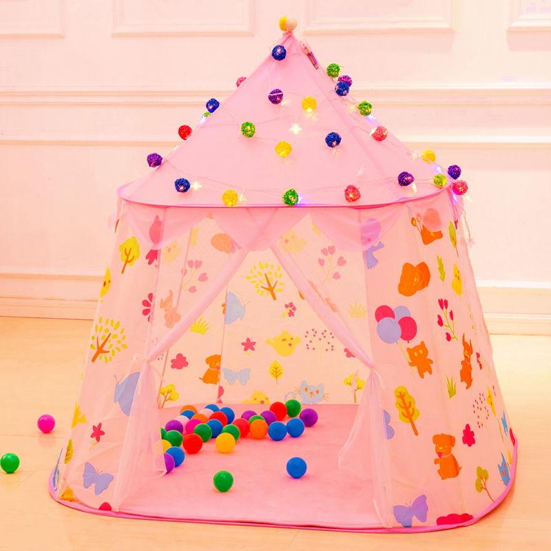 子供 ティピ キッズ 屋内 ベッド 家 ポータブル リトル ハウス ティーピー GR0026青 テント キャンプ アウトドア_画像5