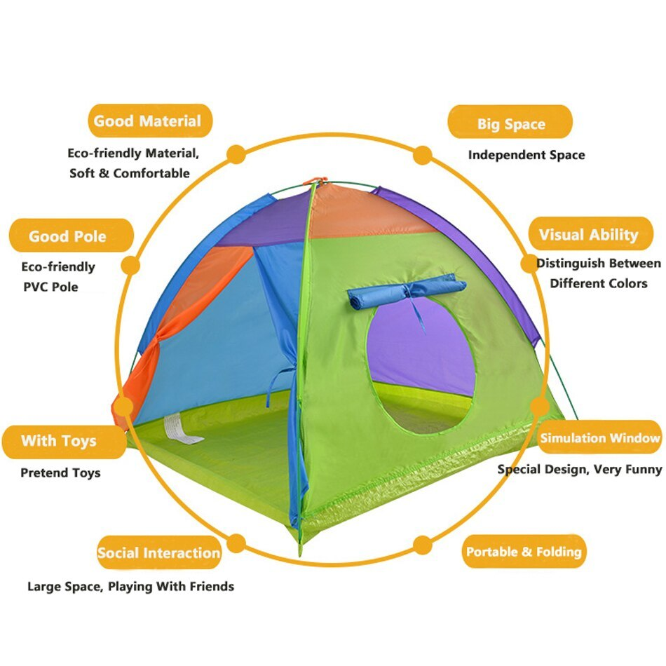 ポータブル 子供 ウィグワム ティピ 赤ちゃん 屋外 防水 プレイ リトル ハウスティーピー GR0019Normal テント キャンプ アウトドア_画像5