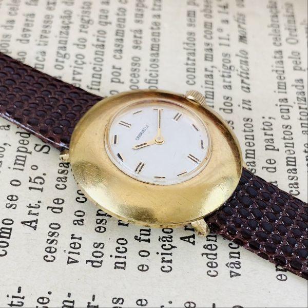 【高級腕時計キャラベル】Caravelle 1970年代 手巻き 17石 スイス メンズ レディース アンティーク ビンテージ アナログ 腕時計_画像6