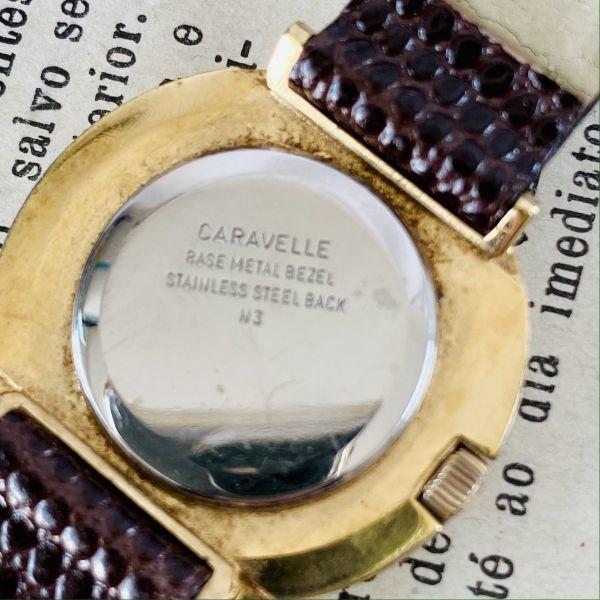 【高級腕時計キャラベル】Caravelle 1970年代 手巻き 17石 スイス メンズ レディース アンティーク ビンテージ アナログ 腕時計_画像9