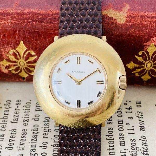 【高級腕時計キャラベル】Caravelle 1970年代 手巻き 17石 スイス メンズ レディース アンティーク ビンテージ アナログ 腕時計_画像3