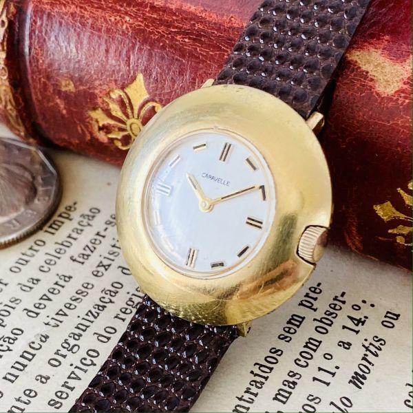 【高級腕時計キャラベル】Caravelle 1970年代 手巻き 17石 スイス メンズ レディース アンティーク ビンテージ アナログ 腕時計_画像1