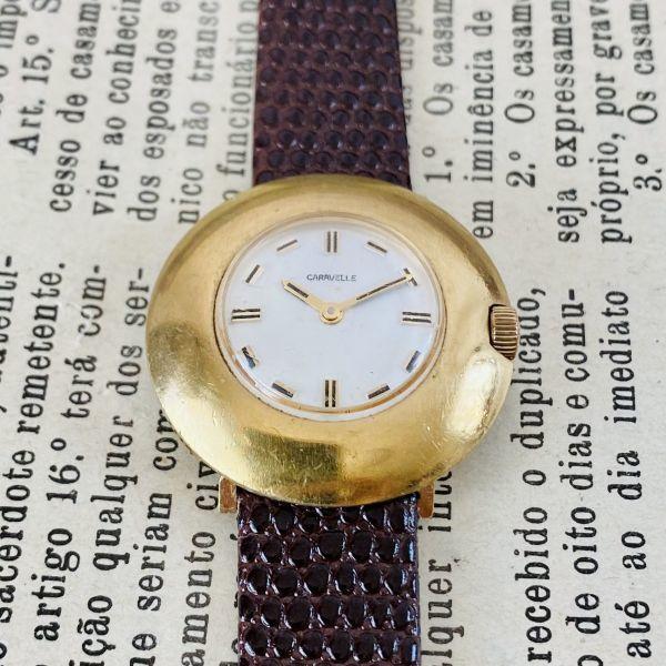 【高級腕時計キャラベル】Caravelle 1970年代 手巻き 17石 スイス メンズ レディース アンティーク ビンテージ アナログ 腕時計_画像5