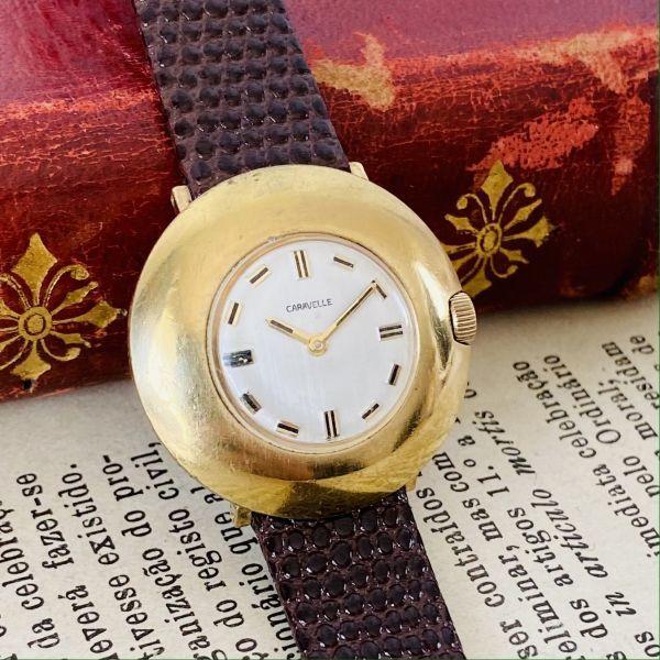 【高級腕時計キャラベル】Caravelle 1970年代 手巻き 17石 スイス メンズ レディース アンティーク ビンテージ アナログ 腕時計_画像2