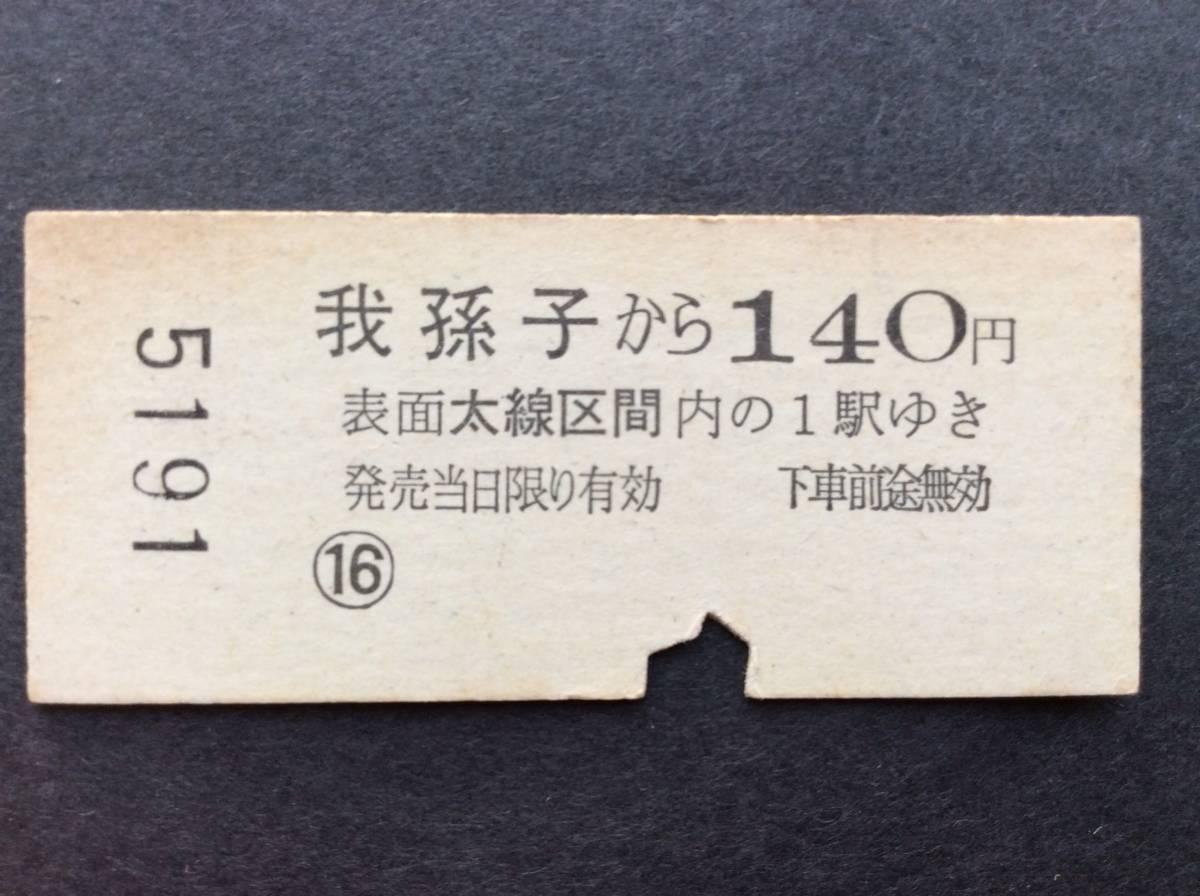 国鉄 地図式乗車券 我孫子駅 140円区間 昭和46年_画像2