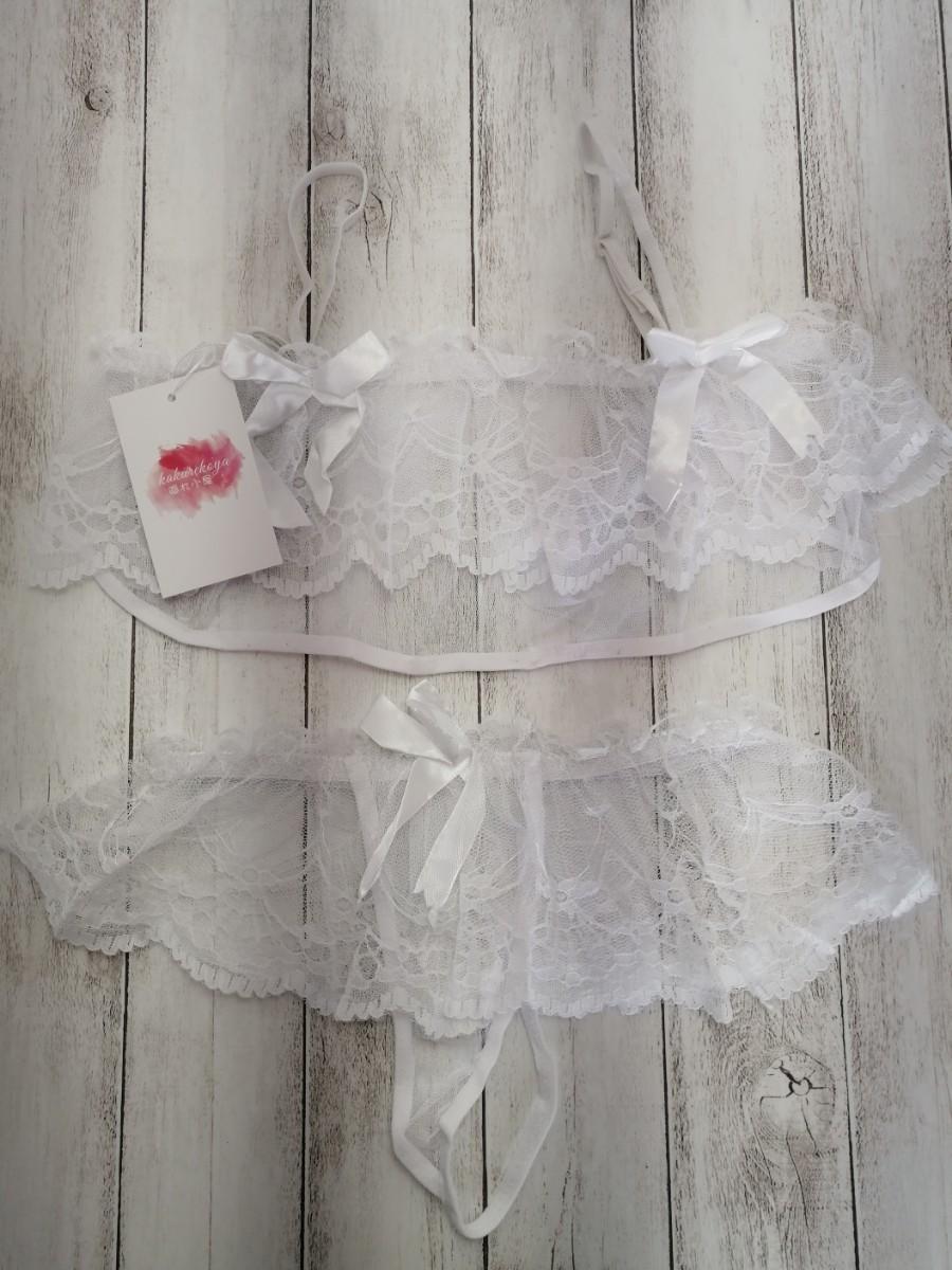 セクシーランジェリー コスプレ上下セットミニスカート白A20 コスプレ衣装