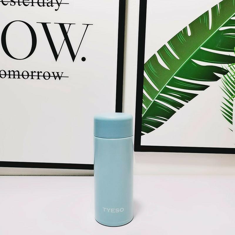 ミニ水筒 120ml ブルー 新品 好評 ボトル ステンレス製マグボトル ミニボトル スリムボトル ポケトル