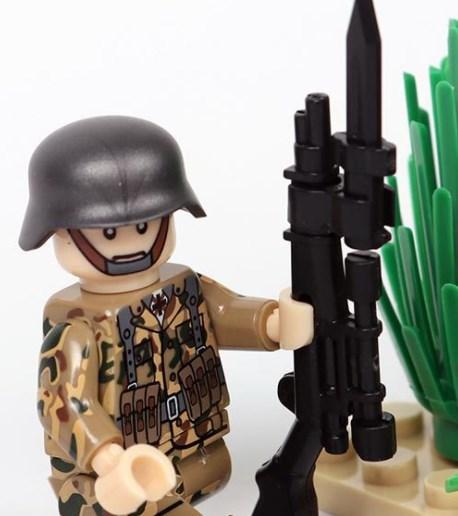 野戦部隊 武器つきセット 戦争軍人軍隊マンミニフィグ LEGO 互換 ブロック ミニフィギュア レゴ 互換t19_画像5