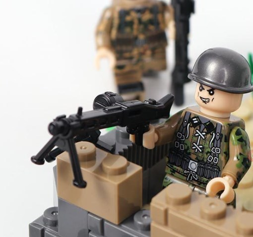 野戦部隊 武器つきセット 戦争軍人軍隊マンミニフィグ LEGO 互換 ブロック ミニフィギュア レゴ 互換t19_画像3