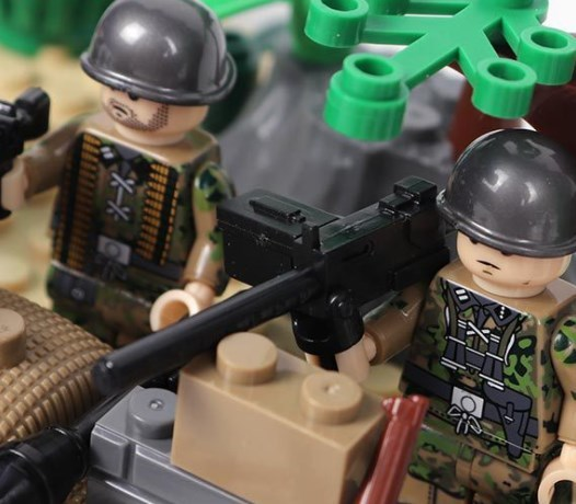 野戦部隊 武器つきセット 戦争軍人軍隊マンミニフィグ LEGO 互換 ブロック ミニフィギュア レゴ 互換t19_画像4