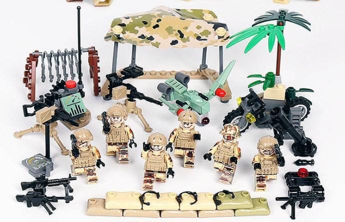 夜戦部隊 武器つきセット 戦争軍人軍隊マンミニフィグ LEGO 互換 ブロック ミニフィギュア レゴ 互換t14_画像1