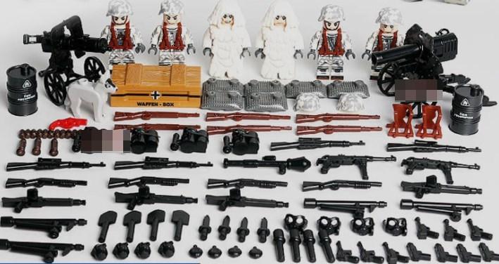 野戦部隊 武器つきセット 戦争軍人軍隊マンミニフィグ LEGO 互換 ブロック ミニフィギュア レゴ 互換t15_画像1