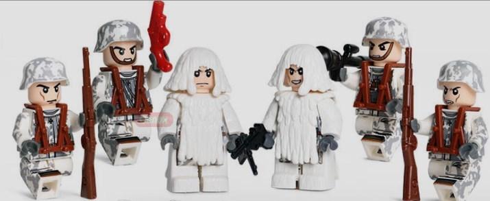 野戦部隊 武器つきセット 戦争軍人軍隊マンミニフィグ LEGO 互換 ブロック ミニフィギュア レゴ 互換t15_画像2