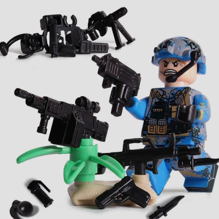 6体 武器つきセット 戦争軍人軍隊マンミニフィグ LEGO 互換 ブロック ミニフィギュア レゴ 互換t28_画像5