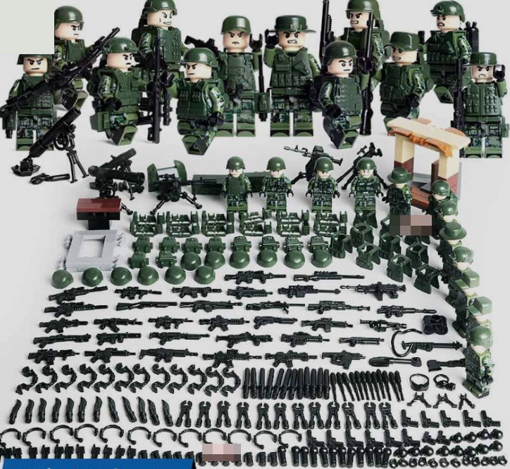 軍人12体 武器つきセット 戦争軍人軍隊マンミニフィグ LEGO 互換 ブロック ミニフィギュア レゴ 互換t21_画像1