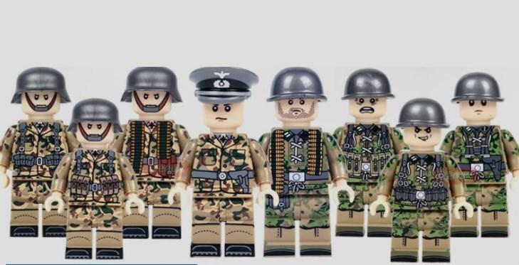 野戦部隊 武器つきセット 戦争軍人軍隊マンミニフィグ LEGO 互換 ブロック ミニフィギュア レゴ 互換t19_画像2