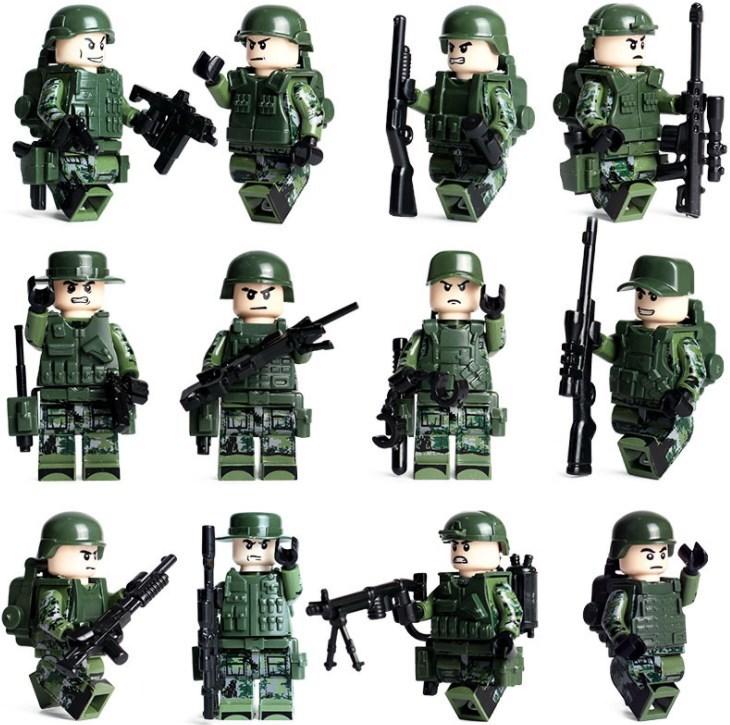 軍人12体 武器つきセット 戦争軍人軍隊マンミニフィグ LEGO 互換 ブロック ミニフィギュア レゴ 互換t21_画像2