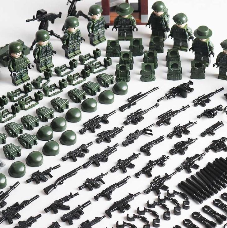 軍人12体 武器つきセット 戦争軍人軍隊マンミニフィグ LEGO 互換 ブロック ミニフィギュア レゴ 互換t21_画像3