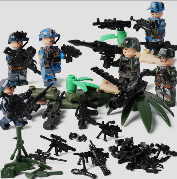 6体 武器つきセット 戦争軍人軍隊マンミニフィグ LEGO 互換 ブロック ミニフィギュア レゴ 互換t28_画像1