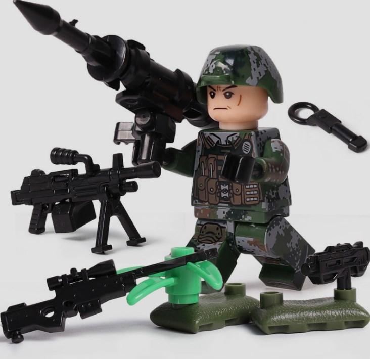 6体 武器つきセット 戦争軍人軍隊マンミニフィグ LEGO 互換 ブロック ミニフィギュア レゴ 互換t28_画像3