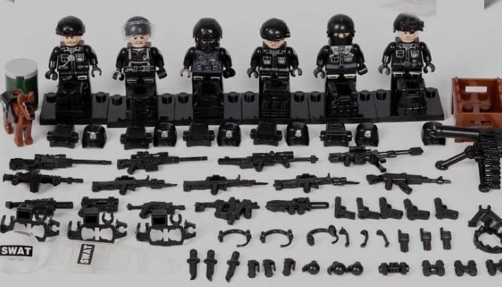swat部隊6体 武器つき戦争軍人軍隊マンミニフィグ LEGO 互換 ブロック ミニフィギュア レゴ 互換t38_画像2